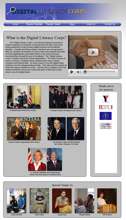 Digital Literacy Corps Website