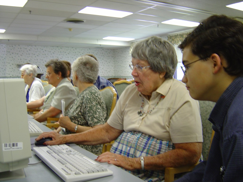 Seniors and those with disabilities often learn best via one-to-one training