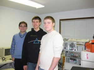 Dan, Will, and Brian (L to R) - Net Literacy's first three Student Chairs continue to volunteer at Computer Connects