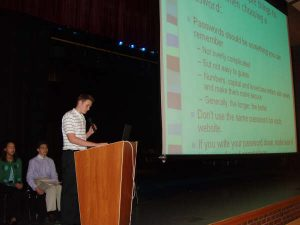 In 2006, the first Safe Connects presentations were made by high school students to middle school students and their parents in the schools after school