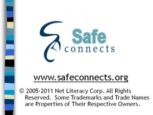 Safe Connects Middle School Lesson Plan for teens and parents
