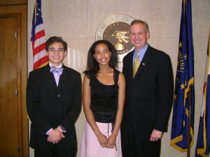 In 2004, then Indianapolis Mayor Peterson honored Net Literacy's Student Chair and Vice Chair