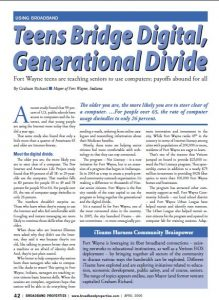 "Broadband Properties Magazine: ""Teen Bridge Digital, Generational Divide"""