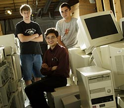 Net Literacy's first computer repurposing facility was in Dan's basement