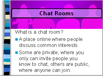 What is chat rooms on the internet
