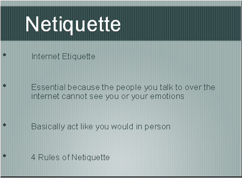 etiquette refers to the rules that explain