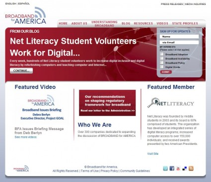 Broadband for America Features Net Literacy's State-wide Digital Inclusion Initiative