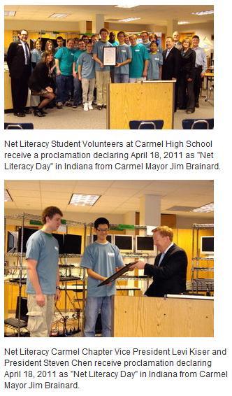 City of Carmel Recognizes Net Literacy Student Volunteers
