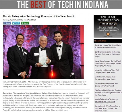 Marv Bailey Wins Tech Educator of the Year Award