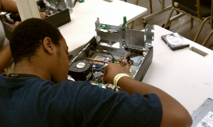 A Student Learns Computer Trouble Shooting Skills