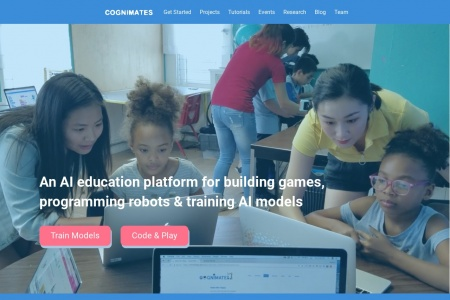 From MIT Media Labs: Cognimates – a free AI education platform for building games, programming robots & training models