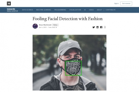 From Towards Data Science: Fooling Facial Detection with Fashion