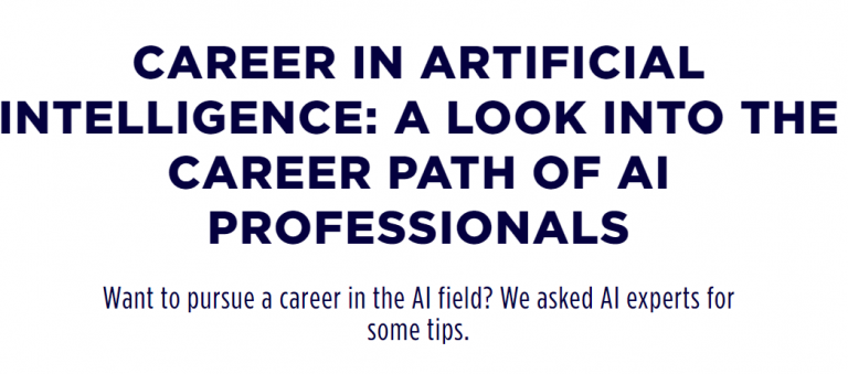 From Built In: Tips from AI experts about pursuing a career in AI